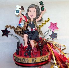 Adult party 40th's CUSTOMIZED BIRTHDAY CAKE TOPPER CREATED TO LOOK LIKE YOU  SHOPAHOLICS