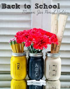 Teacher Gift Ideas with Mason Jars - Mason Jar Back to School Teacher Gift - Mason Jar Crafts Ideas @Mason Jar Crafts Love blog