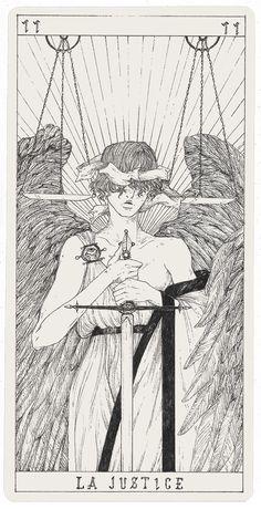 Art Sketches, Art Drawings, Justice Tarot, Arte Obscura, Occult Art, Art Plastique, Art Sketchbook, Aesthetic Art, Dark Art