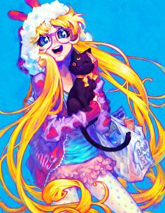 "Bunny by Barachan - mini 8""x10"" Art Print on Society6.com, #SailorMoon #Fanart"