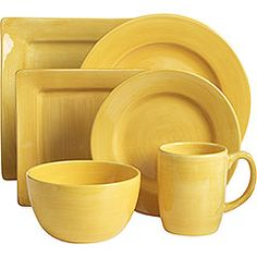 Essential Colours Dinnerware - Yellow at Pier 1