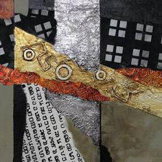 """CAROL NELSON FINE ART BLOG: Metals and Mixed Media Contemporary Abstract, """"Metalworks"""" ©Carol Nelson Fine Art"""