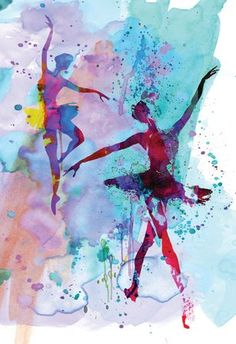(13x19) Two Dancing Ballerinas Watercolor 2 Art Poster NaxArt Poster http://www.amazon.com/dp/B00MEBY31A/ref=cm_sw_r_pi_dp_7IePvb07Y7D0H