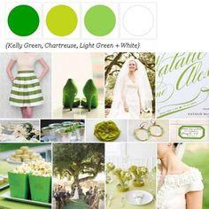 Shades of Green + White via The Perfect Palette xo