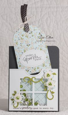 BLOG HOP featuring PPP new dies & sequins - card by Lisa Elton
