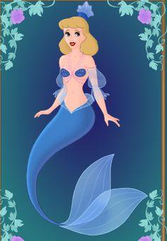 Disney Mermaids_Cinderella by GlamourGoth89.deviantart.com on @deviantART