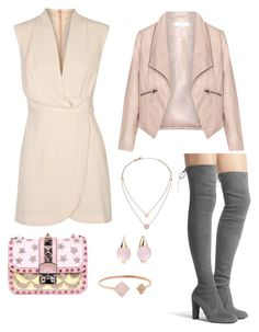 """""""Untitled #8"""" by monalisasantos on Polyvore featuring Finders Keepers, Stuart Weitzman, Valentino, Michael Kors, Pomellato and Zizzi"""