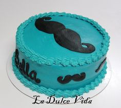 Mustache cake, all buttercream