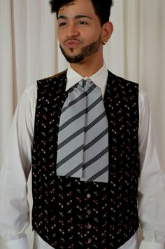 Mens Velvet Vest,  Steam Punk Vest, Vintage Vest, Floral Embroidered, Better…