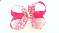 Hey, I found this really awesome Etsy listing at https://www.etsy.com/listing/198563946/damask-hair-bow-baby-hair-clips-pink