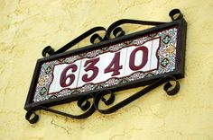 pretty, Spanish style house number at 6340 Pine Circle South in St ...