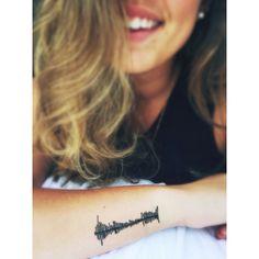 Music Tattoos, Body Art Tattoos, Small Tattoos, Sister Heart Tattoos, Sound Wave Tattoo, Unique Tattoos For Women, Warrior Tattoos, Memorial Tattoos, Ink