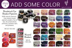 Add some color to your life..we have some amazing colors and it doesn't stop from your eyes..so much more you can do with our mineral pigments