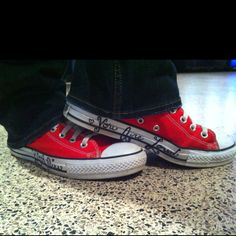 Converse- a classic! &the writing on these brings back memories! @Maria Reynolds @Andrea Walth :)