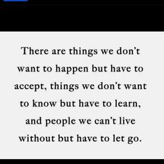 There are things..