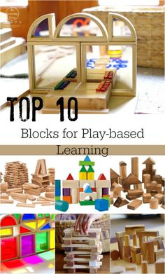 Top Ten Blocks for Children: What are the best blocks for kids? In this post you will see ten of the best wooden blocks for children as well as where to buy Wooden Blocks For Kids, Blocks For Toddlers, Kids Blocks, Play Based Learning, Learning Through Play, Learning Centers, Early Learning, Block Center, Block Area