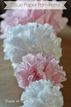 How to Make the Perfect Tissue Paper Pom-Poms in Different Sizes.