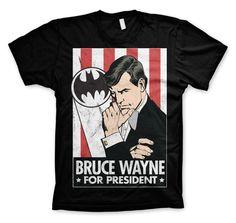 Batman Bruce Wayne For President Koszulka Męska