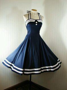 Navy Sailor Dress... LOVE THIS!!!