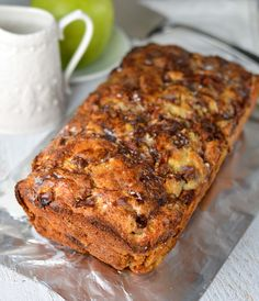 Apple fritter bread is everything I love about the classic donut. It's loaded with apples throughout!