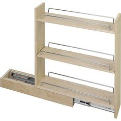 Base Cabinet Pull Out. x x Featuring full extension ball bearing slides, adjustable shelves, and clear UV finish. Ships assembled with removeable shelves and shelf supports. Maple Cabinets, Diy Kitchen Cabinets, Wooden Kitchen, Storage Cabinets, Kitchen Storage, Diy Furniture Plans, Furniture Design, Armoires Diy, Cabinet Design