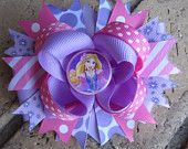 Rapunzel Tangled inspired Pink Purple Disney World Vacation Boutique Hair Bow Costume Disney Hair Bows, Baby Hair Bows, Baby Headbands, Baby Girl Accessories, Diy Hair Accessories, Little Girl Hairstyles, Diy Hairstyles, Ribbon Bows, Ribbons