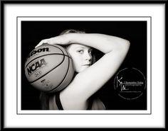 basketball senior photo idea