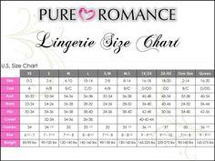 Our lingerie size chart. Pure Romance Party, Pure Romance Consultant, Facebook Party, Size Chart, Lingerie, Pure Products, Consultant Business, Bathroom Organization, Erika