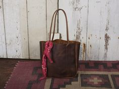leather tote by Forestbound