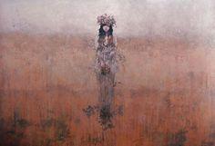 "Federico Infante, The Summer, 2013, Acrylic On Canvas, 48"" x 70"" #art #bdg"