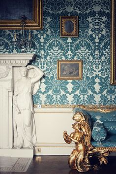 Kedleston Hall by peachphoto, via Flickr #damaskwallpaper #texture