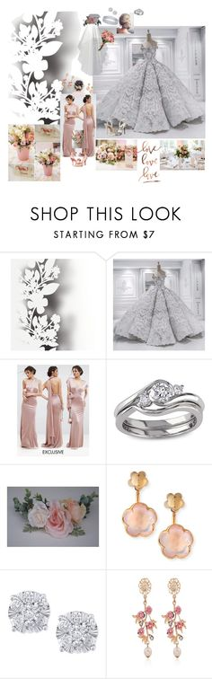 """""""Love, love, love"""" by lawvel ❤ liked on Polyvore featuring Élitis, TFNC, Miadora, Pasquale Bruni, Effy Jewelry and WithChic"""
