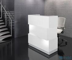 Banque d'accueil ZEN blanche LED allumé disponible aux alentours de Marseille