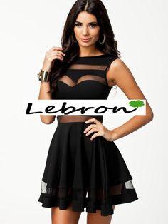 Vestido con transparencias 25€ negro, disponible en mas colores, tallas desde la M-L