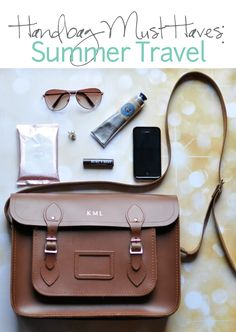 Handbag Must Haves for Summer Travel, including the new Ban Total Refresh cooling wipes #sponsored
