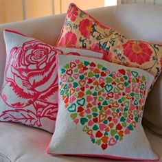 Add a touch of color with accessories - like pillows!
