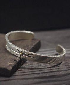 Men's Sterling Silver Sun Rays Cuff Bracelet $75