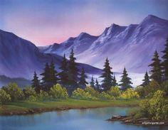 58 Best Ideas for painting bob ross landscape Watercolor Landscape, Landscape Art, Landscape Paintings, Watercolor Art, Bob Ross Artworks, Bob Ross Paintings, Beautiful Paintings, Beautiful Landscapes, Pinturas Bob Ross
