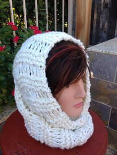 Hand Knit Cowl Scarf  Winter Accessories  Neck by BiziKnitting4You