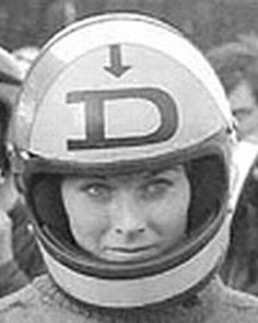 Dane Rowe with an early Full Face Helmet