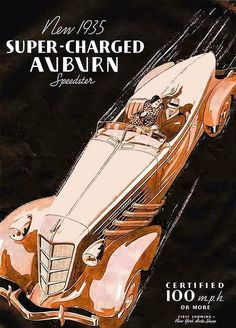 Auburn 851 Super-Charged Boat Tail Speedster 1935