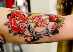 teacup tattoo @Jenny Schisler Hinely I want a tea cup tattoo so bad!