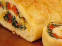 Cantinho Vegetariano: Rocambole de Queijo e Escarola (ovo-lacto)