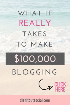 What it really takes to make $100,000 as a blogger. In this post I lay out the steps to making six figures with multiple streams of income. You can use affiliate marketing, freelance work, sell digital products, etc. most of these can be passive income from ads selling ebooks. You can Make money blogging and create an online business. Read more... #affiliatemarketing #startablog #sixfigureblogger #blogformoney