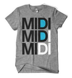 MIDI Athletic Grey T-Shirt