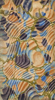 BEAUTIFUL COLORS - Marbled paper used in bookbinding