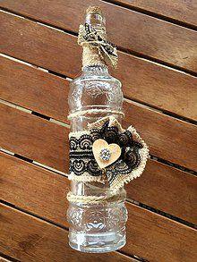Dekorácie - Dekoračná fľaška \