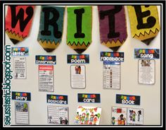 The ultimate writing center--- My students went from hating to write to fighting to get into this station! - good way to organize writing center Kindergarten Writing, Teaching Writing, Writing Activities, Teaching Ideas, Literacy Worksheets, Teaching Tools, Teacher Resources, Writing Lessons, Writing Skills
