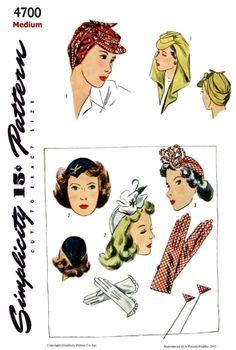 Millinery Hats, Fascinator Hats, Saint James, 1940s Fashion, Fashion Sewing, Vintage Fashion, Rosie The Riveter, Turban Hat, Beautiful Patterns