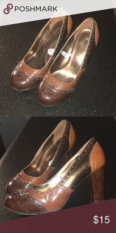 bfeb640f88b Loafer heels! Chunky heel cute retro shoe! Mossimo Supply Co. Shoes